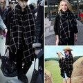 Autumn winter Tartan scarf black white plaid scarf woman all-match cozy Wool Shawl ladies Collar Double side 200cm*100cm