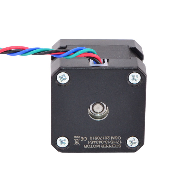 Free Ship! Nema 17 Stepper Motor 34mm 26Ncm(36.8oz.in) 0.4A 12V Nema17 Step Motor 42BYGH 4-lead CNC Reprap 3D Printer