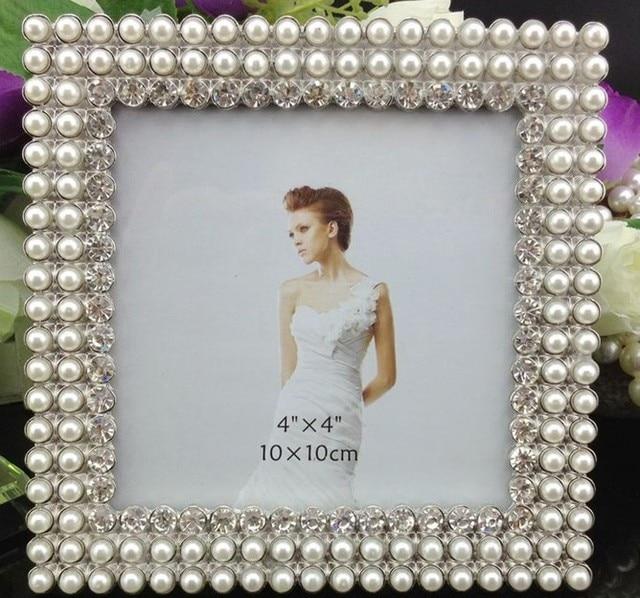 4 x 4 marco cuadrado tiffany perla de la boda foto marco muebles ...