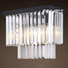 Modern Vintage K9 Crystal Chandelier Wall Sconce Lamp Retro Cristal Wall Light Lighting Fixture for Home Hotel Dining Room Decor