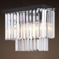 Moderna do vintage k9 lustre de cristal arandela lâmpada retro cristal luminária parede luz para casa hotel sala jantar decoração
