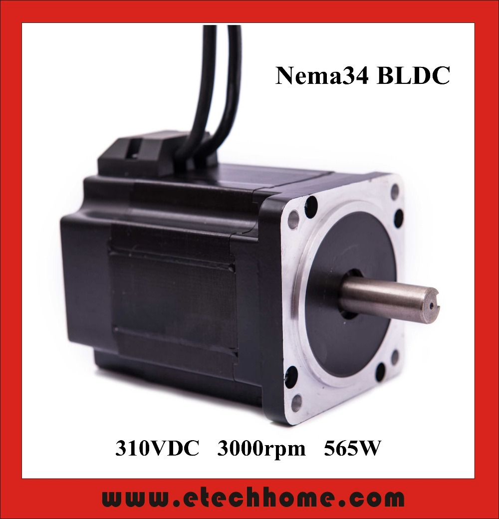 High Quality Nema34 Brushless DC Motor 310VDC 565W 3000rpm Square Flange 86 mm