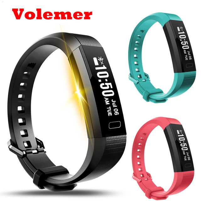 Volemer Y11 Smart Wristband Fitness Tracker Heart Rate Monitor Pedometer Calorie Bracelet Band For Le