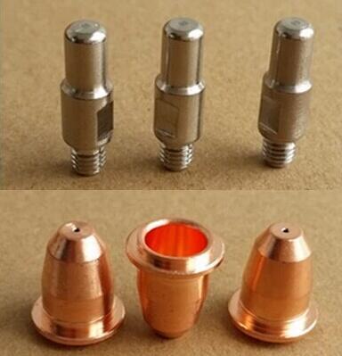 Free shipping 40 PCS Trafimet S45 Plasma cutting torch consumables parts PD0116 08 Tip PR0110 Electrode