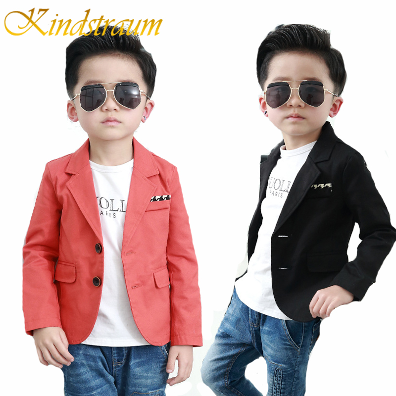 Kindstraum 2017 Nya barn Boys Blazer Bomull Bröllop Formell Blazer Casual Barn Solid Brand Party Outwear Boys Jacka, MC723