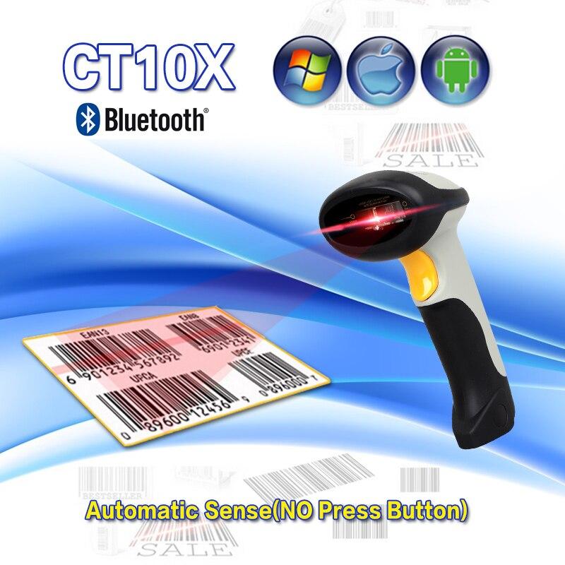 Ct10x Новый Беспроводной Bluetooth 1D сканер штрих-Мини-считывания штрих-кода для iOS, Android Windows Системы Сканер Бар Бесплатная доставка