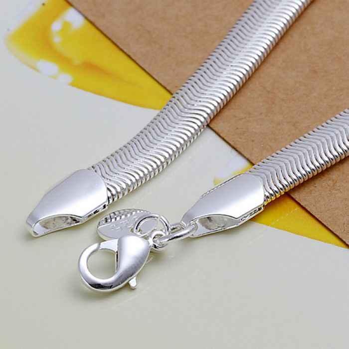 Miễn phí vận chuyển 925 trang sức mạ bạc trang sức vòng tay thời trang tinh tế mềm mại Loài Rắn Vòng tay bán buôn bán lẻ SMTH164