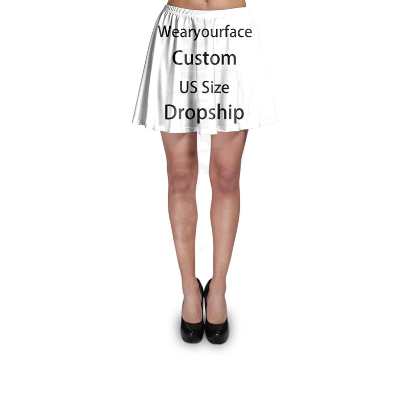 402653ccc2a3 Custom Dropship US Size 3D All Over Printed Summer Short Skirt Women Casual  Customize Fit Tutu