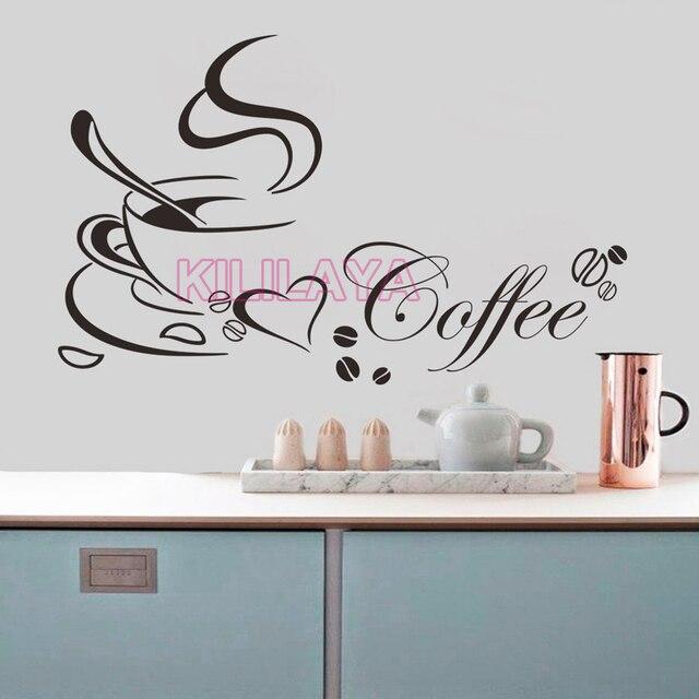 US $6.89 |Kaffeetasse Vinyl Wandaufkleber für Küche Café Wandbild Wandkunst  Tapete Wohnkultur Haus Dekoration Wandtattoos Poster in Kaffeetasse Vinyl  ...