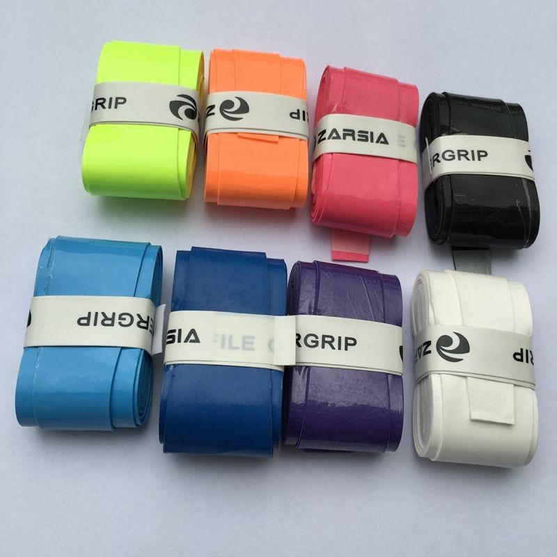 10pcs ZARSIA High quality PU sticky badminton grip,bright colors tennis overgrip,badminton grip,fishing rode grip