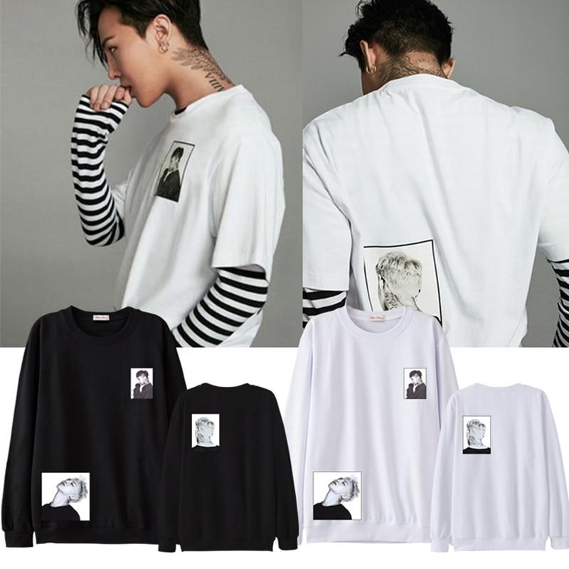 Kpop Bigbang G-Dragon Women Men Sweatshirts GD Pullover Unisex Sweatshirt Causal Top Jumper New