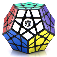 Qiyi Galaxy V2 Megaminx Magic Cube Brain Teaser Puzzle Toy Concave Type Black Base