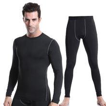 Мужская спортивная одежда компрессионные рубашки штаны под базовый