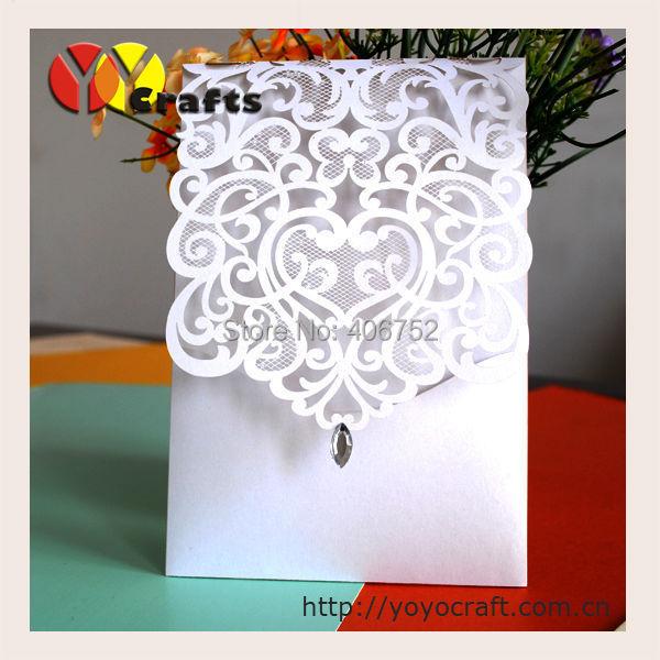 Wedding Invitation Card Paper: 2016 Popular Design Handmade Paper Laser Cut Wedding