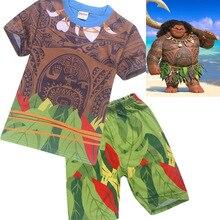 Baby Girls Clothes Sets Moana Maui Costume Kid Boys Clothes Set Casual T Shirts Children Sports Suits 2 Pcs Top Tees + Pants