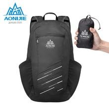 AONIJIE 18L Waterproof Nylon Foldable Backpack Lightweight Folding Bag Women Men Outdoor Bags Climbing Rucksack romix rh30 18l foldable polyester outdoor backpack bag