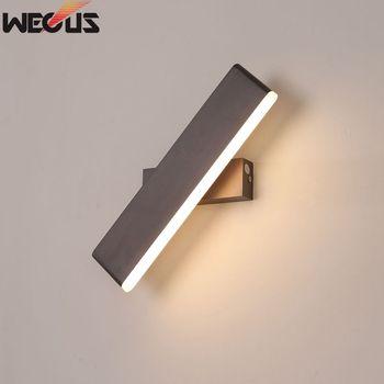 현대적인 미니 멀리 즘 크리 에이 티브 침실 머리맡 램프, 성격 알루미늄 거실 벽 램프를 회전 수 있습니다