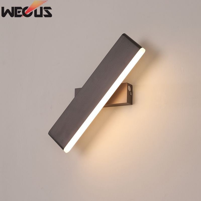 Modern minimalist creative bedroom bedside lamp, personality aluminum can rotate the living room room wall lamps the art of creative personality of modern minimalist living room bedroom aisle led bedside lamps wall lamp porch wall lighting