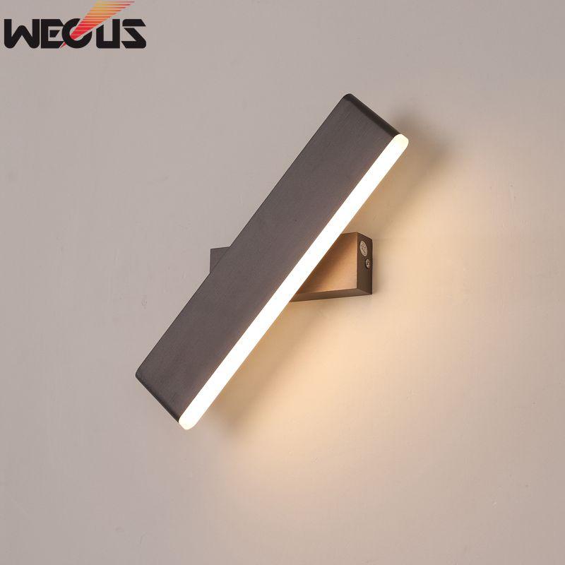 100% Wahr Modernen Minimalistischen Kreative Schlafzimmer Nachttischlampen, Persönlichkeit Aluminium Drehen Kann Der Wohnzimmer Wandleuchten