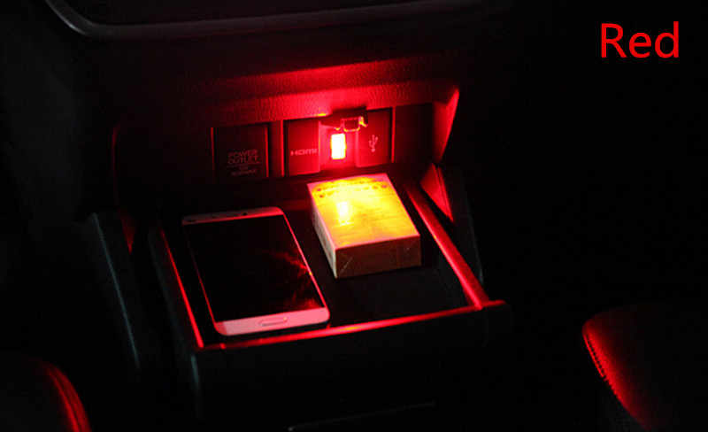 Universal Mobil Styling USB LED Lampu Dekoratif untuk Peugeot Ford Focus Golf Mk3 Jetta Honda Civic 2017 Jimny Citroen c3 Corolla