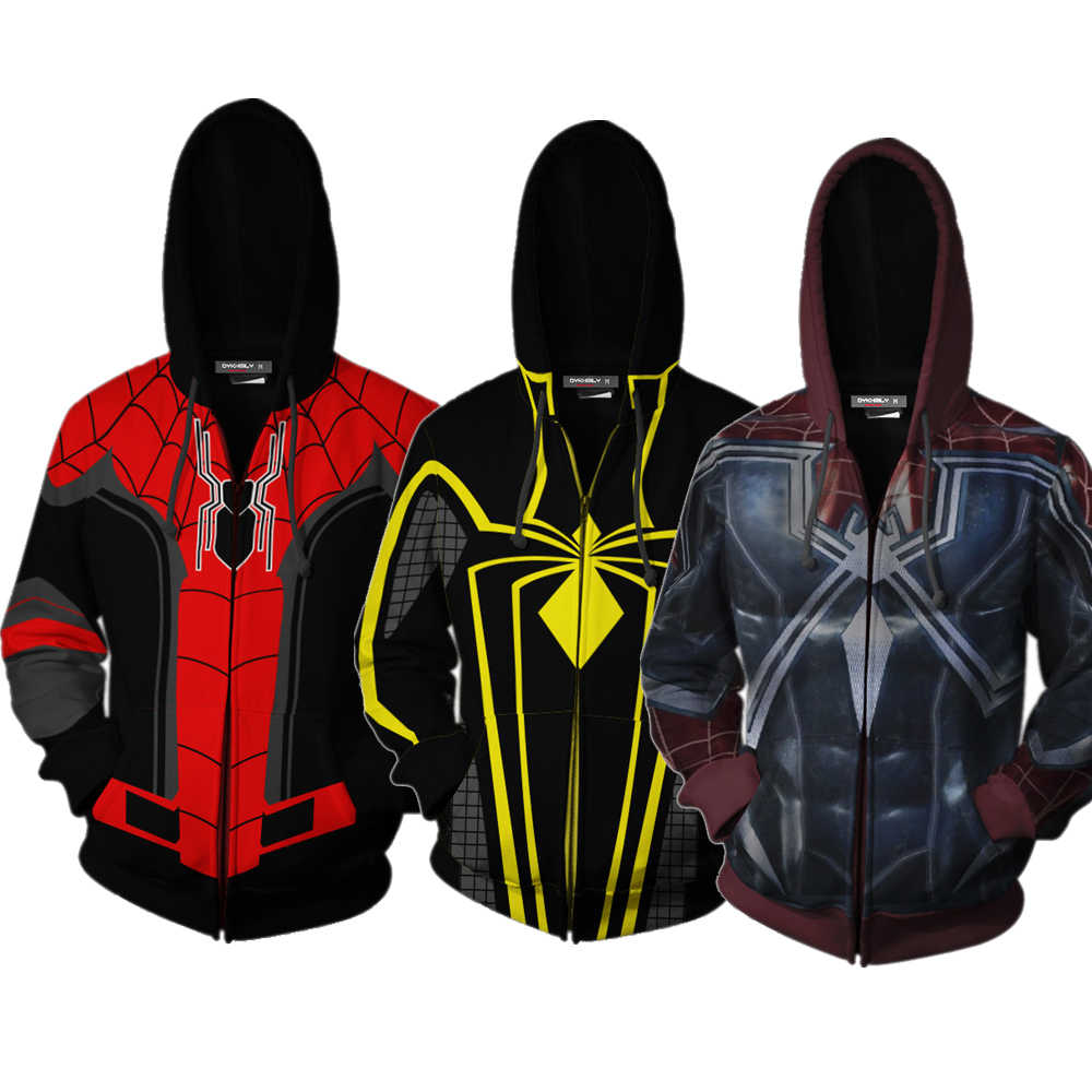 c2fea773 Far from Home Spider-man Cosplay Hoodies PS4 Pro Spiderman 3D Printed  Hooded Casual Men