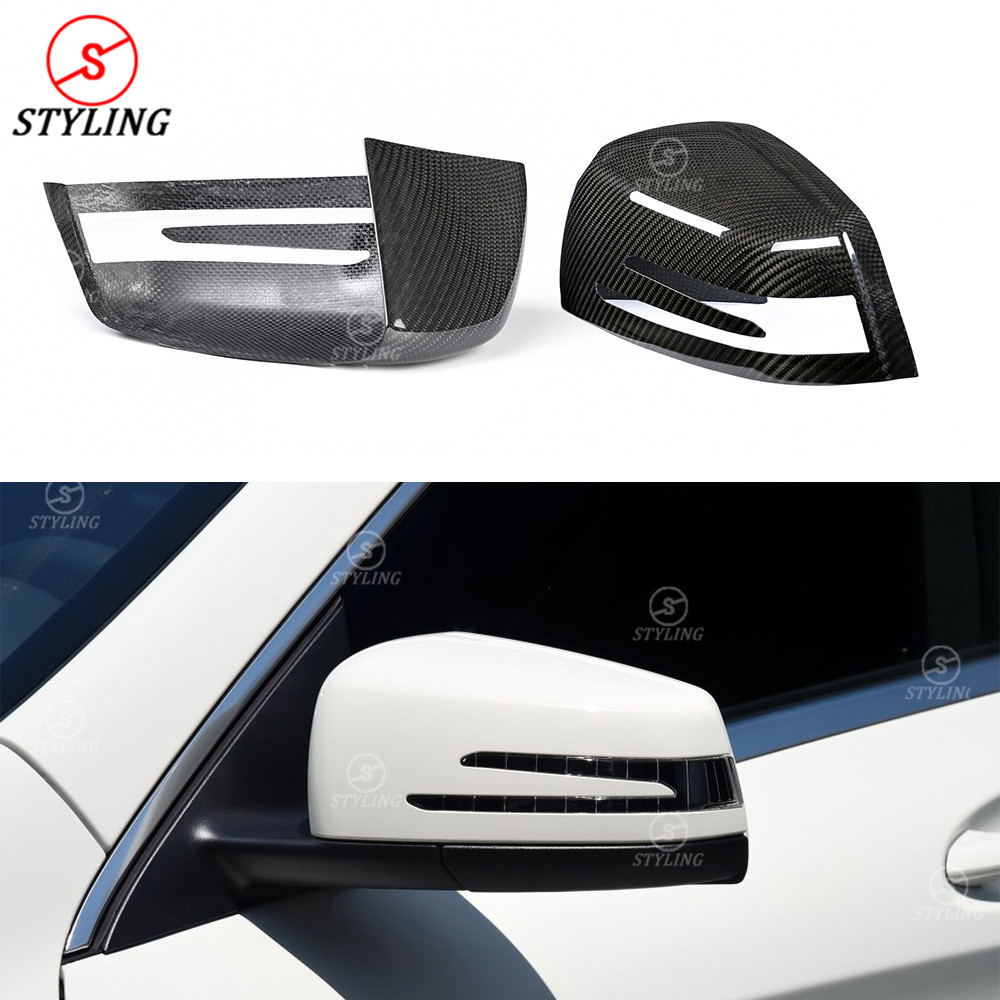For Mercedes W204 Carbon Fiber mirror cover A B Class W176 CLA W117 W218 W212 Carbon Fiber Rear side view mirror cover 2007 -UP