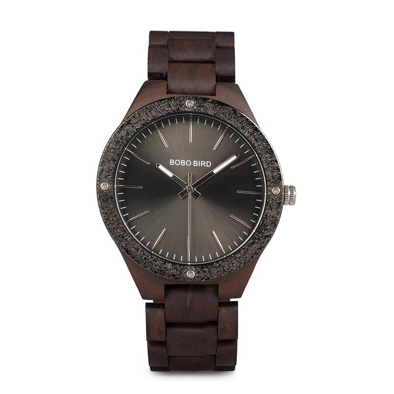 BOBO BIRD Watches Men New Designer Analog Display Wooden Strap Wristwatches Drop Shipping B-P05