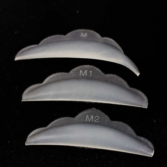 10 bolsas/lote de reciclaje en forma de flor de pestañas barras de perm M M1 M2 barras de pestañas de silicona para extensión de pestañas perm