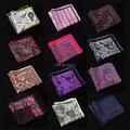 NK Dot Paisley Pañuelo de Espiga de Anclaje 100% Satén de Seda Natural Mens Pocket Square Pañuelo de Moda Clásica Del Banquete de Boda