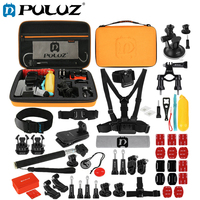 PULUZ 53 in 1 Accessories Sets For GoPro Hero5/6 Total Ultimate Combo Kits+Orange EVA Case For Go Pro Acessories Kits