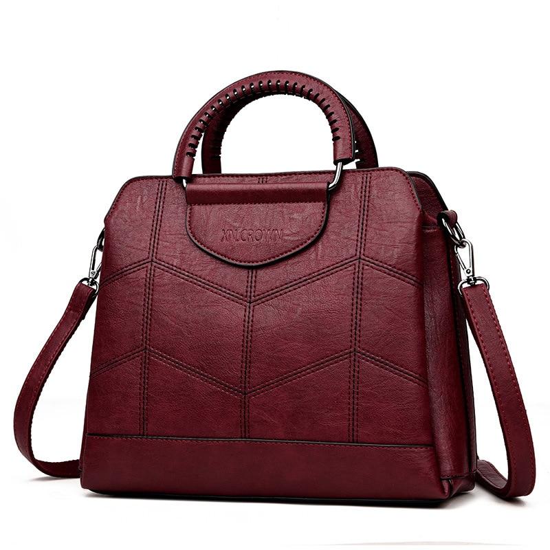 Bolsas de Mulheres de Couro Bolsas de Luxo Designer de Crossbody Bolsas para Bolsas de Couro para Mulheres Sac a Principal 2019 do Vintage Mulheres Bolsas Tote