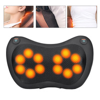 12/8/6/4 Heads Back Neck Massager Shiatsu Massage Pillow Cushion Pain Relief Car Home Waist Body Electric Massager Relaxation