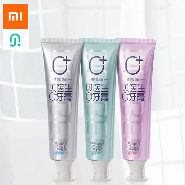 Xiaomi רופא B משחת שיניים/SOOCAS הלבנת משחת שיניים מברשת שיניים אפס להוסיף אין פיגמנט ללא חומרים משמרים בריא עבור אישה ילדים