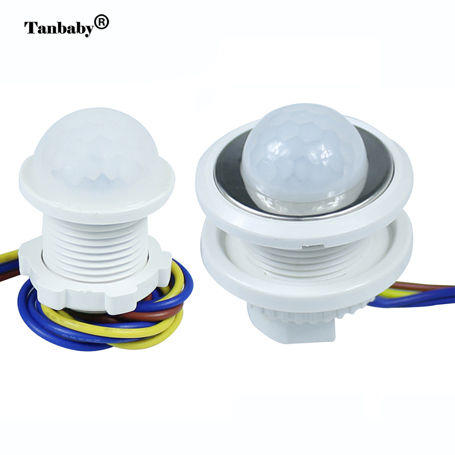 Tanbaby 25mm 40mm PIR Sensor Infrared IR Switch controller Module Body Motion Sensor Auto On off ceiling panel Lights Lamps 1pcs td 12v ir infrared module body intelligent sensor light motion sensing switch size103 x 15 mm