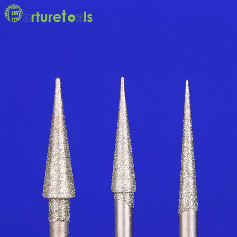 50 stks diamant gemonteerde punt slijpkop dremel roterende tool voor - Schurende gereedschappen - Foto 3