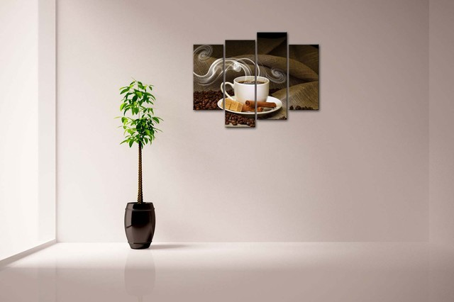 Coffee Cup Patterned Wall Canvas Picture