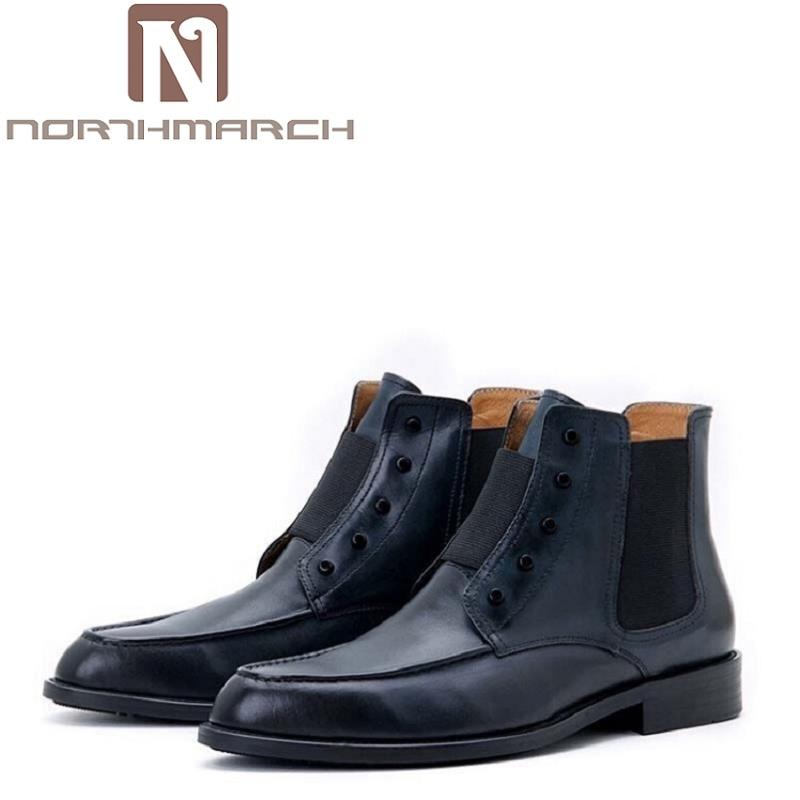 Motorlaarzen Sapatos De Boots Botas Mannen Motocicleta Confortáveis Negócios Ankle Inverno Martin Preto Homens azul Dos vermelho Outono Vinho Northmarch 7wqOSS