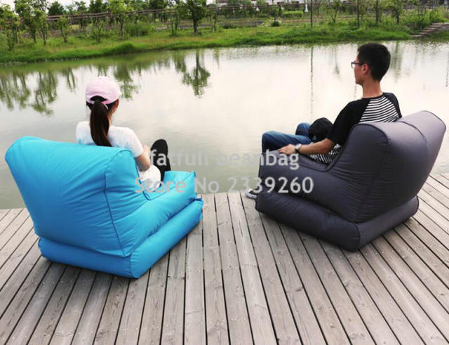 COVER ONLY,no Filler  Wholesale Custom Printed Folding Beanbag Chair, Outdoor  Beanbag