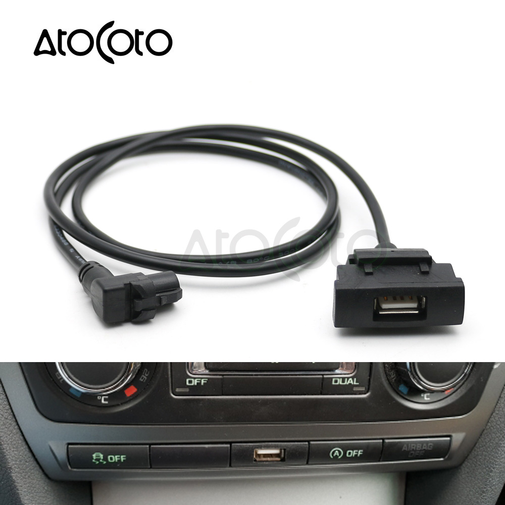 atocoto car usb interface adapter audio input switch for. Black Bedroom Furniture Sets. Home Design Ideas