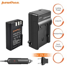 1pcs EN-EL9 EN EL9 ENEL9 Battery +Charger+car charger 7.2V 2000mAh Camera For Nikon EN-EL9a D40 D40X D60 D3000 D5000 L15