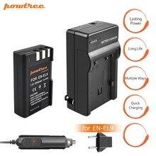 1pcs EN-EL9 EN EL9 ENEL9 Battery +Charger+car charger 7.2V 2000mAh Camera Battery For Nikon EN-EL9a D40 D40X D60 D3000 D5000 L15 все цены