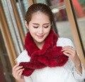 Женщины зима шарфы дерево уха натуральный мех норки трикотажные кольцо шарф натуральный мех воротник грелки шеи украл обертывания глушитель