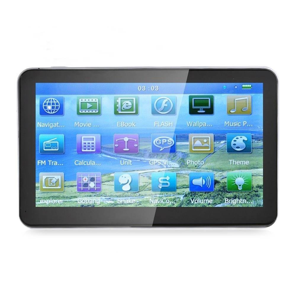 Écran tactile CE 6.0 7 pouces voiture GPS Navigation avec cartes gratuites E livre vidéo Audio jeu lecteur fonction