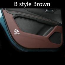 Dla Peugeot 5008 3008 2017 2018 2019 4PCS drzwi samochodowe PU Leather Anti kick pad naklejka ochrona drzwi boczne Edge film włókno węglowe tanie tanio Naklejki Innych 1 cm Naklejka klejąca Wyciąg kumansi Masz Wewnętrznego Zmiana koloru 10 cm Nie pakowane 50cm