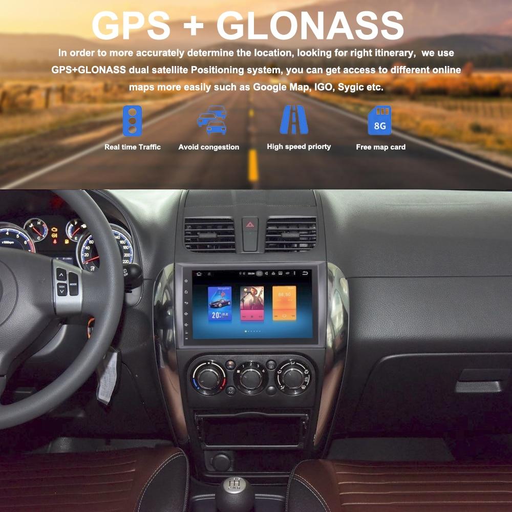 2 din Car Radio GPS Android 8 0 For Suzuki SX4 Fiat Sedici 2006 2007 2008