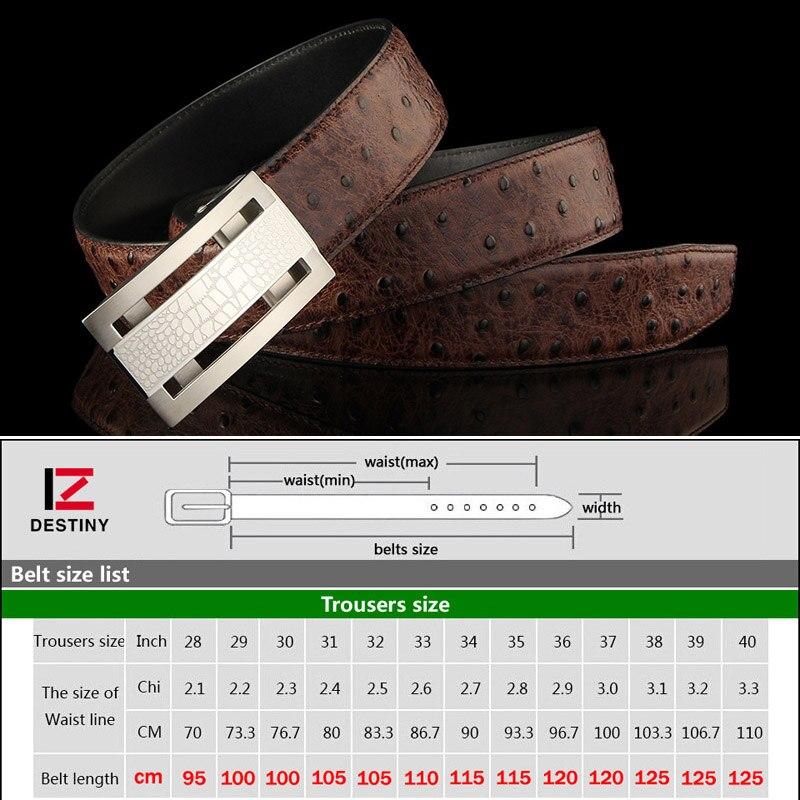 Cinturones de diseñador de destino hombres de alta calidad correa de cuero genuino de lujo famosa marca cinturón boda Acero inoxidable oro plata - 6