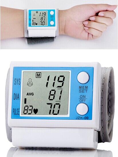 Wrist Blood Pressure Monitor Wholesale Medical Health Care Digital Sphygmomanometer Automatic IHB WHO tt Free Shipping