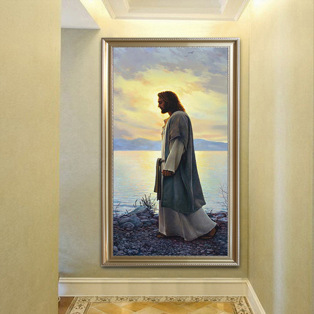Jesus Christ print Painting Poster and print portrait wall Art ...