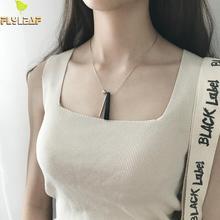 цены на 100% 925 Sterling Silver Jewelry Necklace Small Ball Cylindrical Geometric Natural Stone Chain Flyleaf  Necklaces & Pendants  в интернет-магазинах