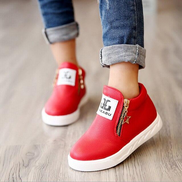 d32b02e48c83 Молнии Повседневная детская обувь скольжению Мужской Женский детская  спортивная обувь детская Спортивная обувь детские ботинки Martin